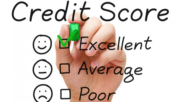A list of potential credit scores with the excellent option being selected.